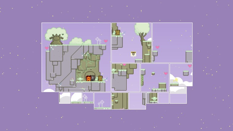 three characters at the beginning of a level