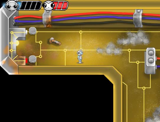 blue bot inside circuit