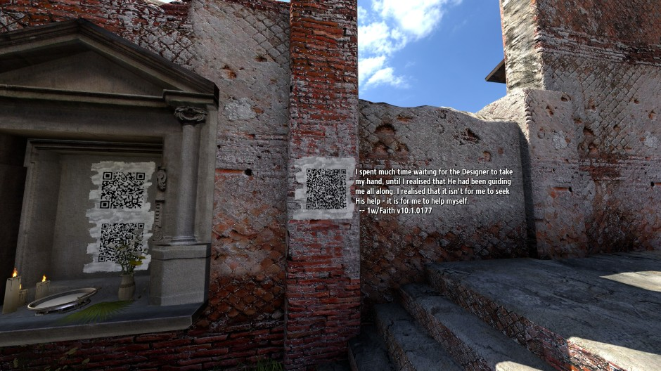 QR code message from 1 with Faith