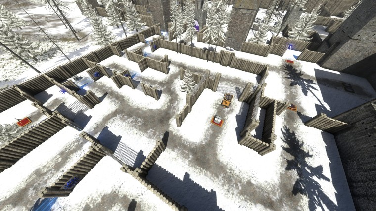 log wall maze
