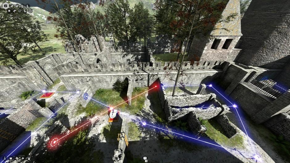 crossing lasers