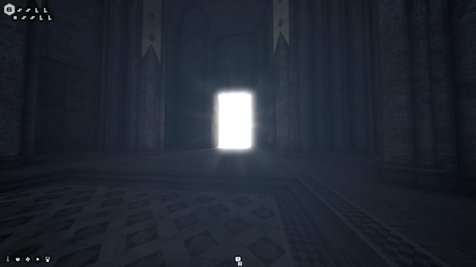 Glowing door