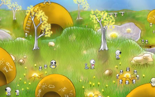 yellow blob-like bots