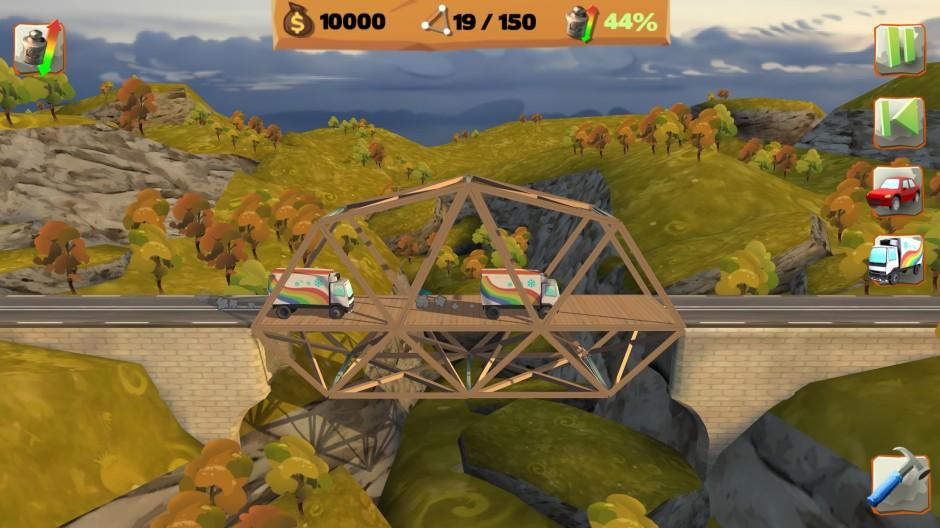 short wooden bridge