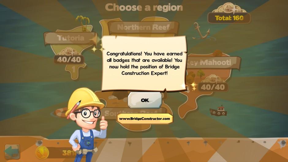 Final congratulations screen
