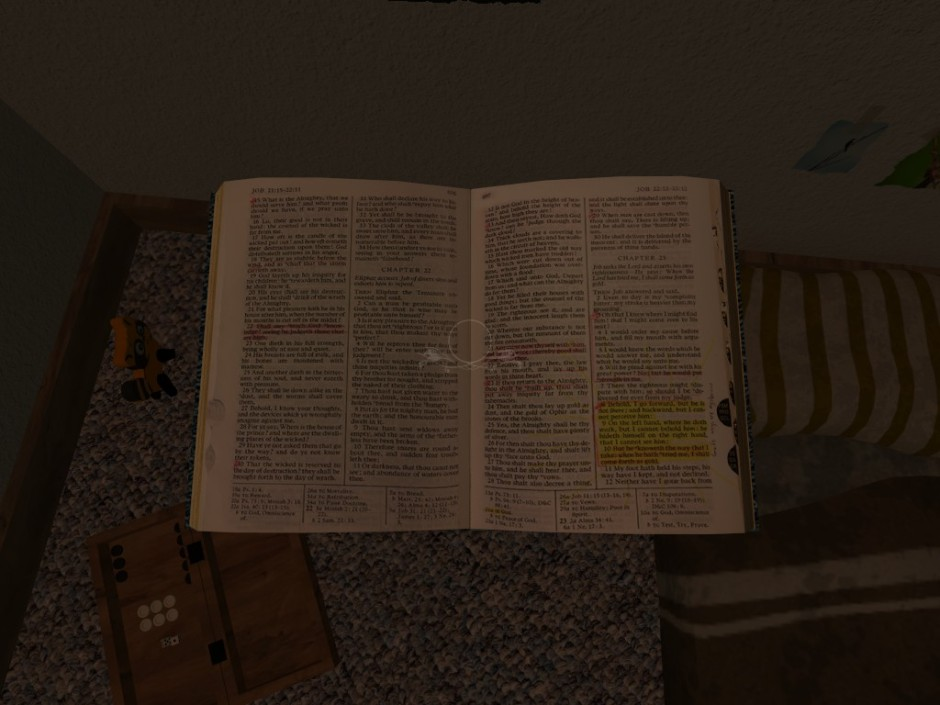 Holding a bible