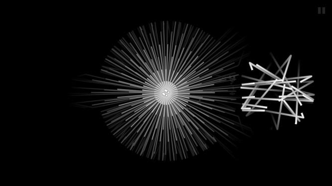 White sound lines on black