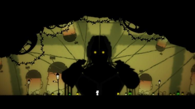 Elin dwarfed by a large silhouette