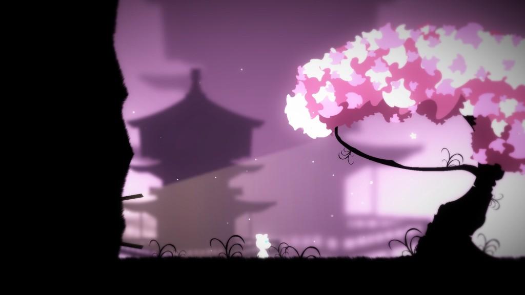 Elin with cherry blossom tree
