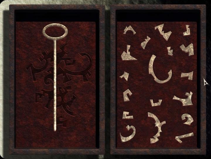 fragmented key in a box
