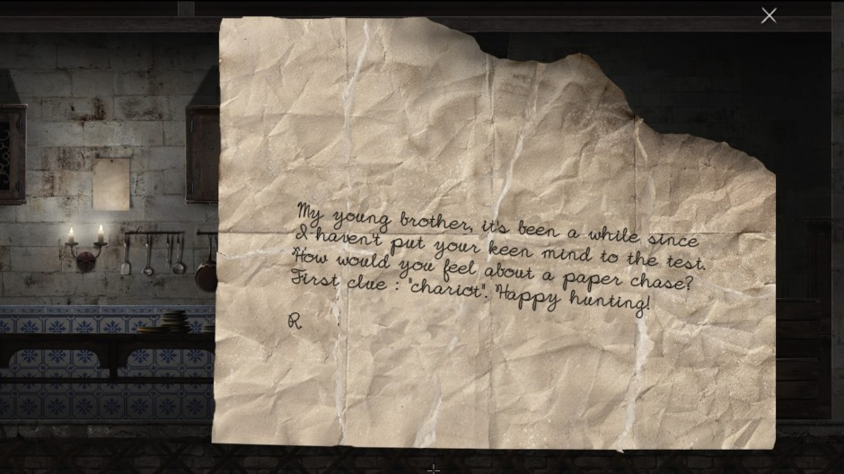 A note left between young brothers