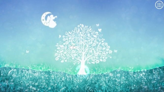 The Celestial Tree grown to a large size with a blue background