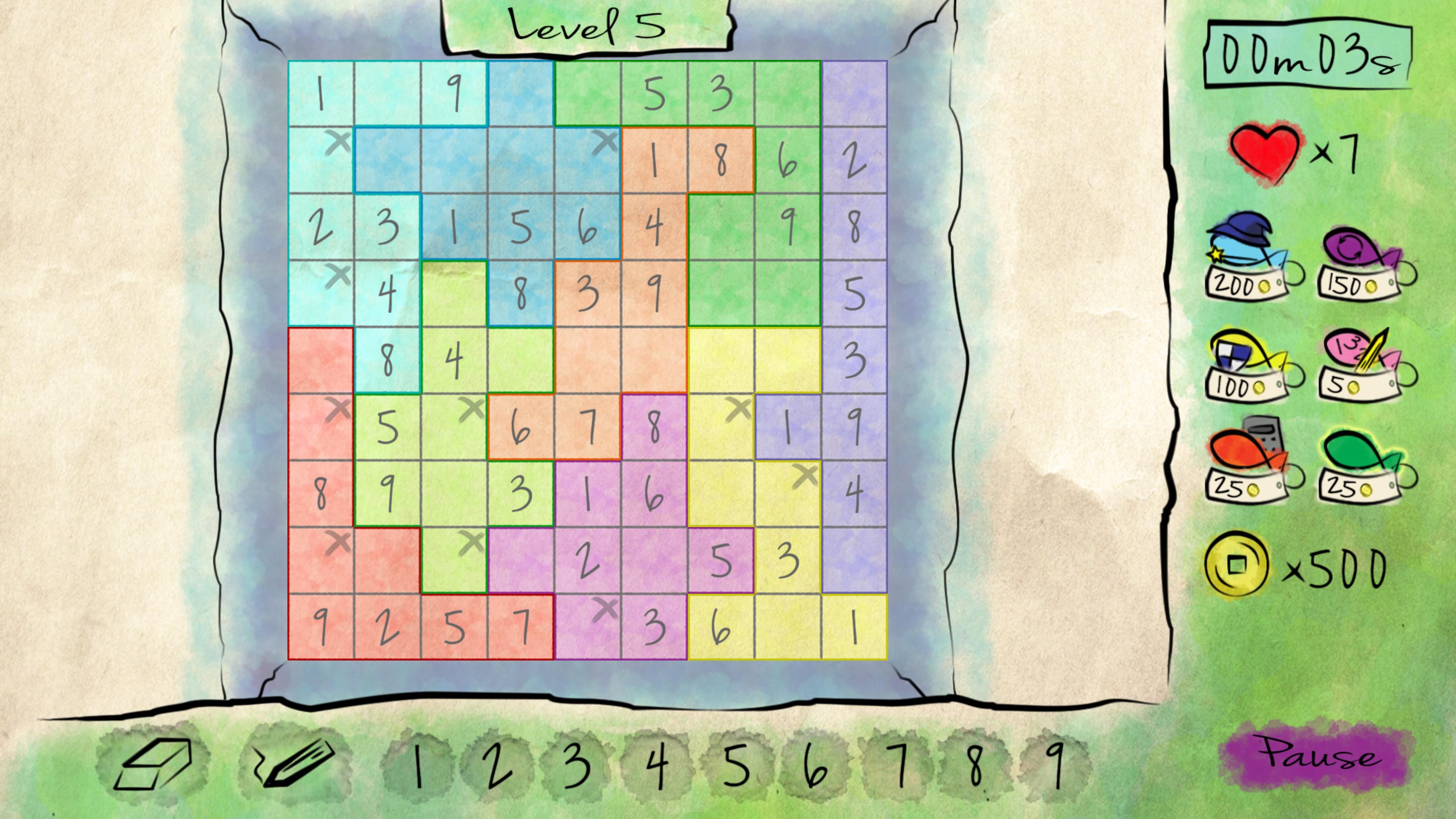 Nonomino sudoku variant