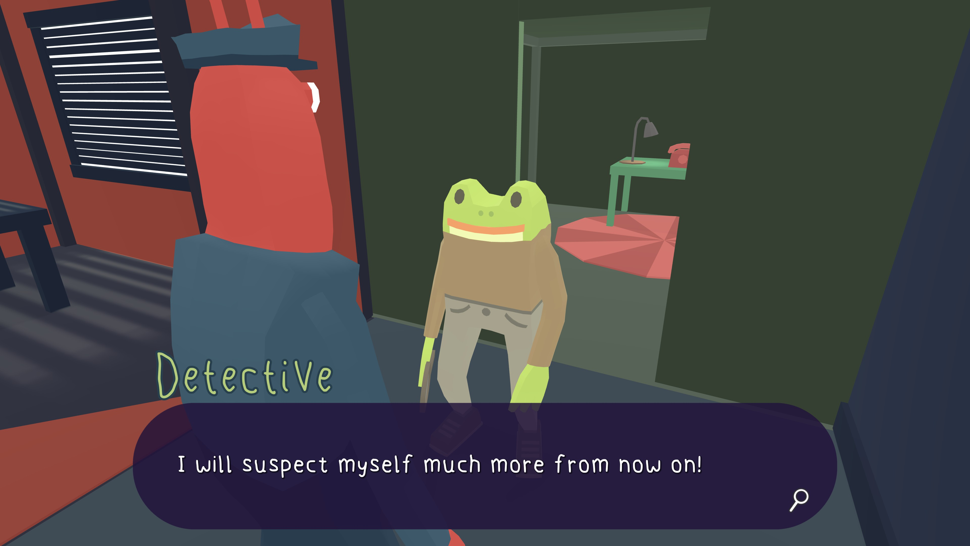 Frog Detective 2  The Case of the Invisible Wizard. The detective saying I will suspect myself much more from now on