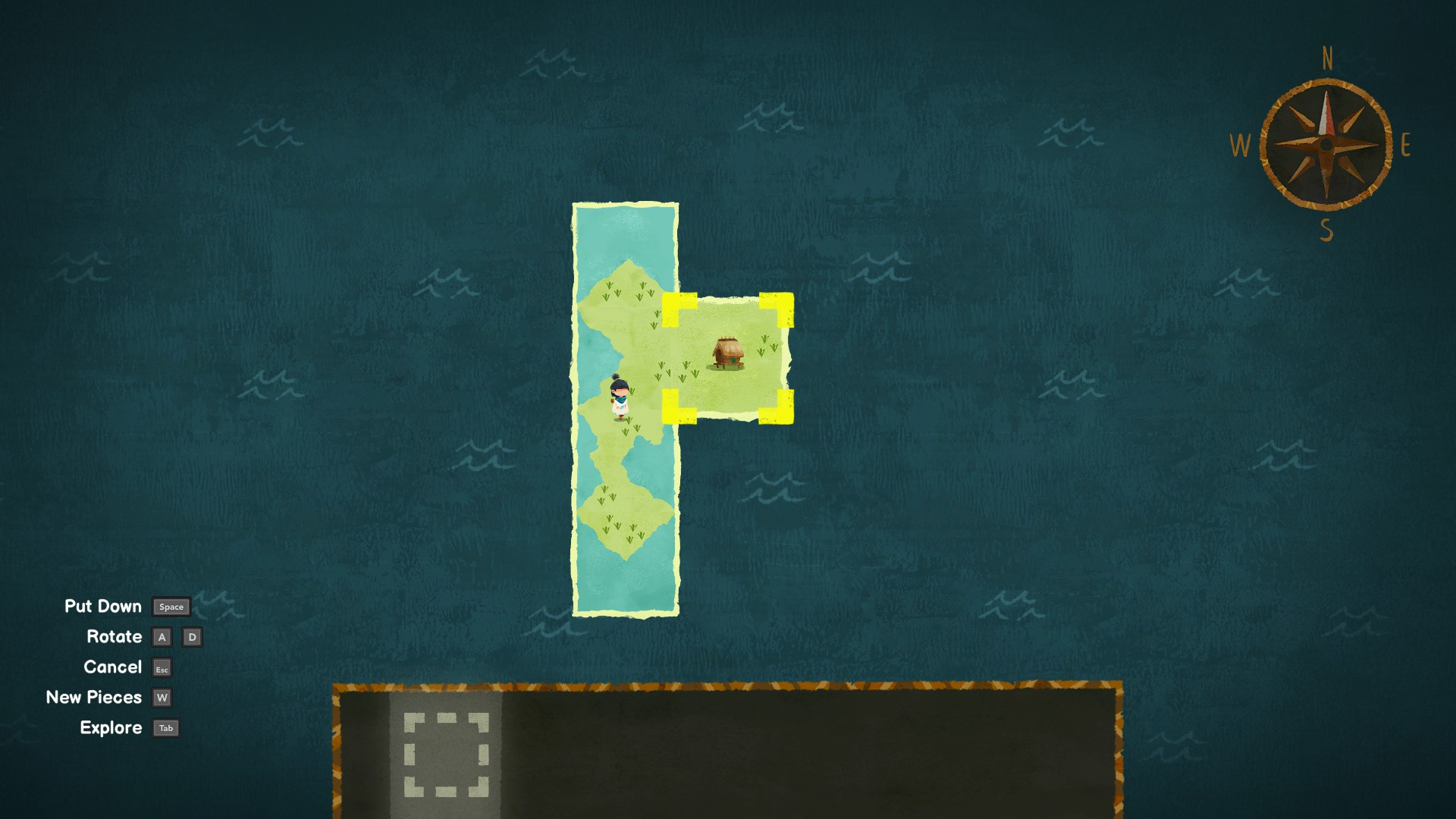 Carto. Placing a map fragment with a house depicted on it