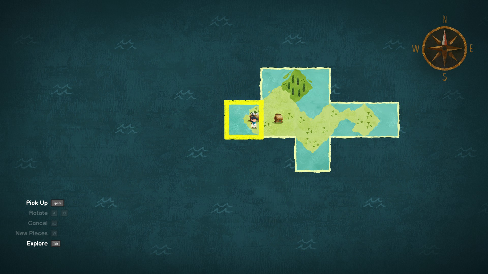 Carto. Map fragments laid out such that another house appears