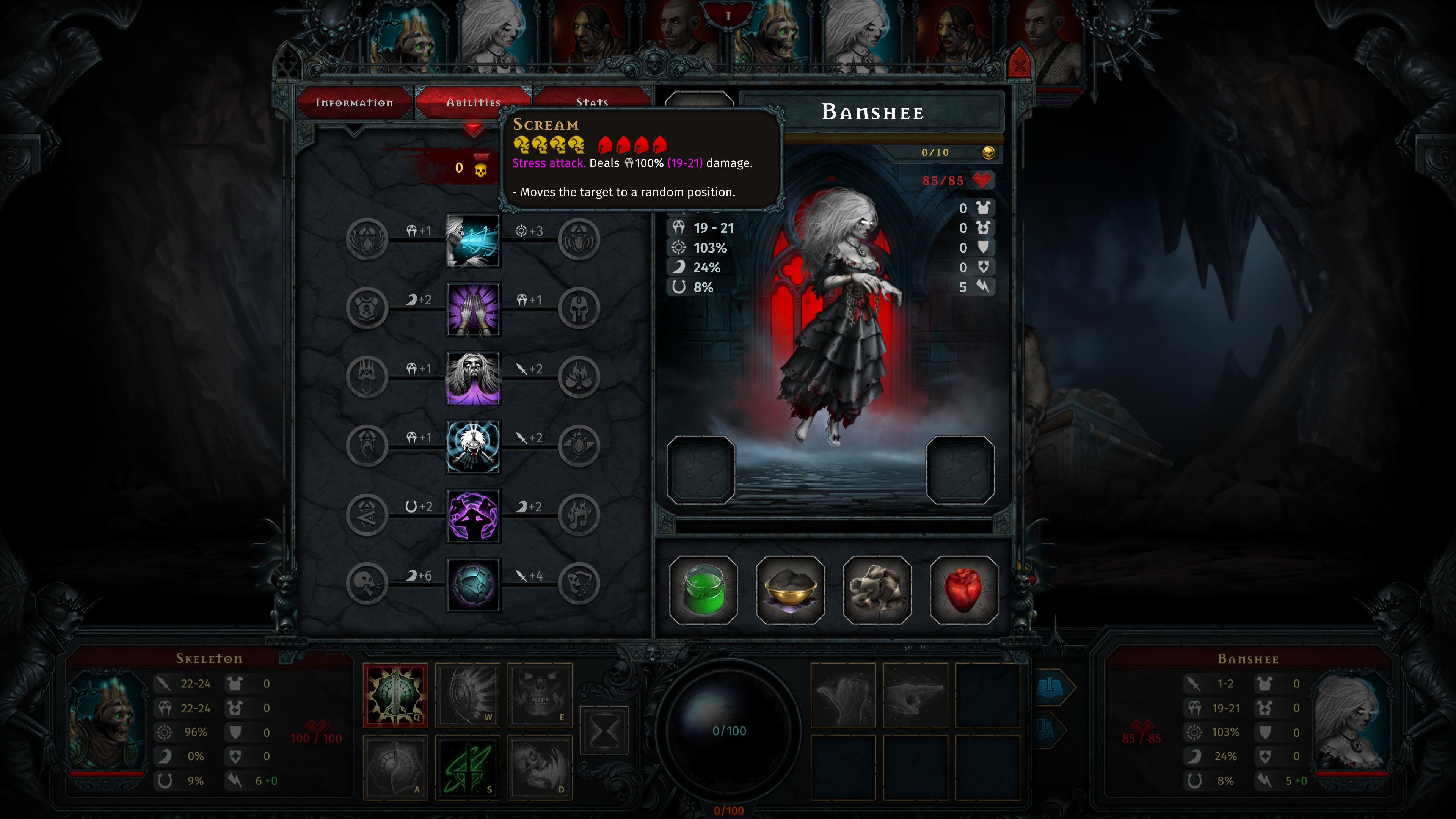 Iratus  Lord of the Dead. Stats and abilities of a level 1 banshee.