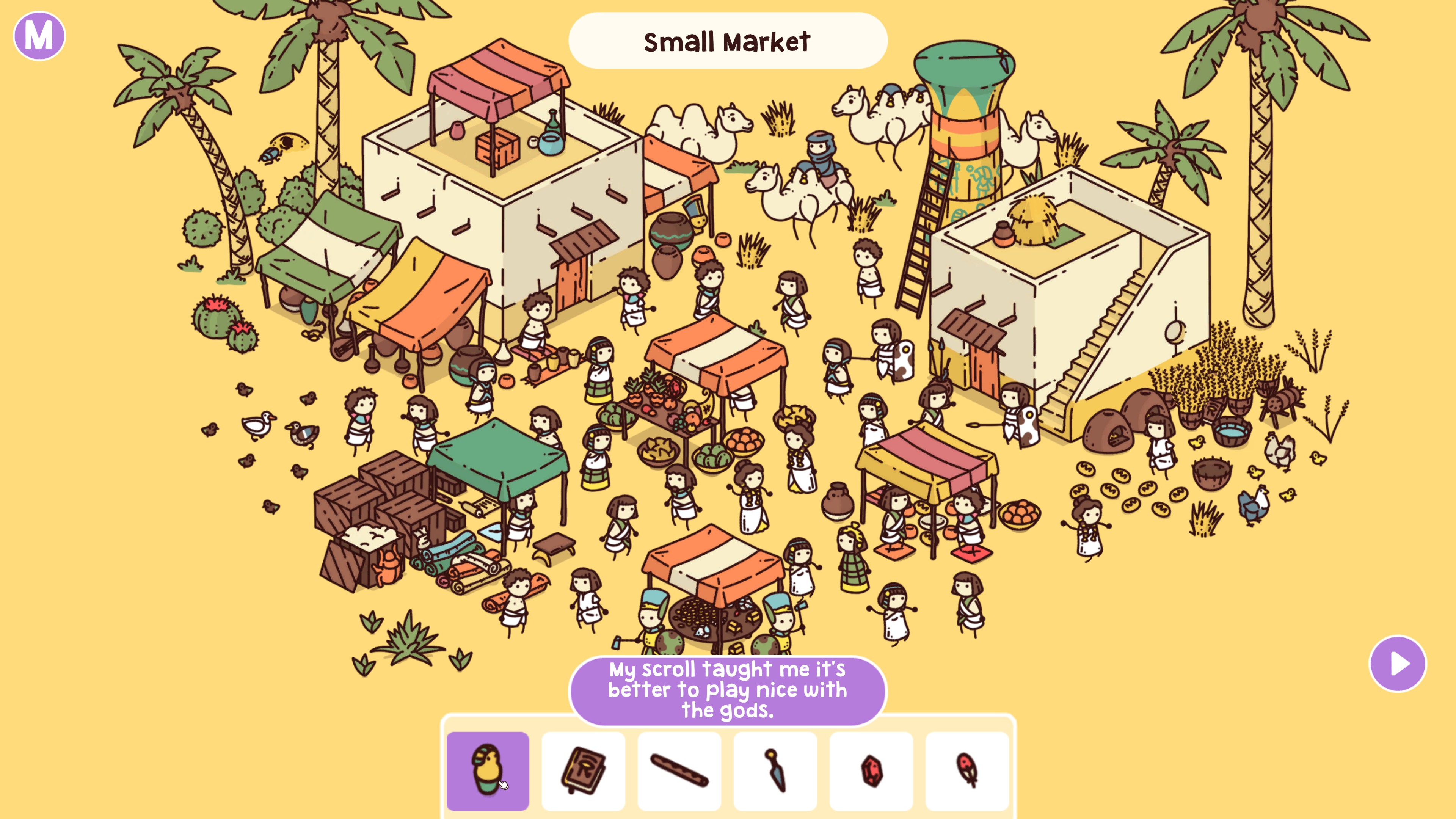 Hidden Through Time. Small market themed level set in ancient Egypt, there are 6 items to find.