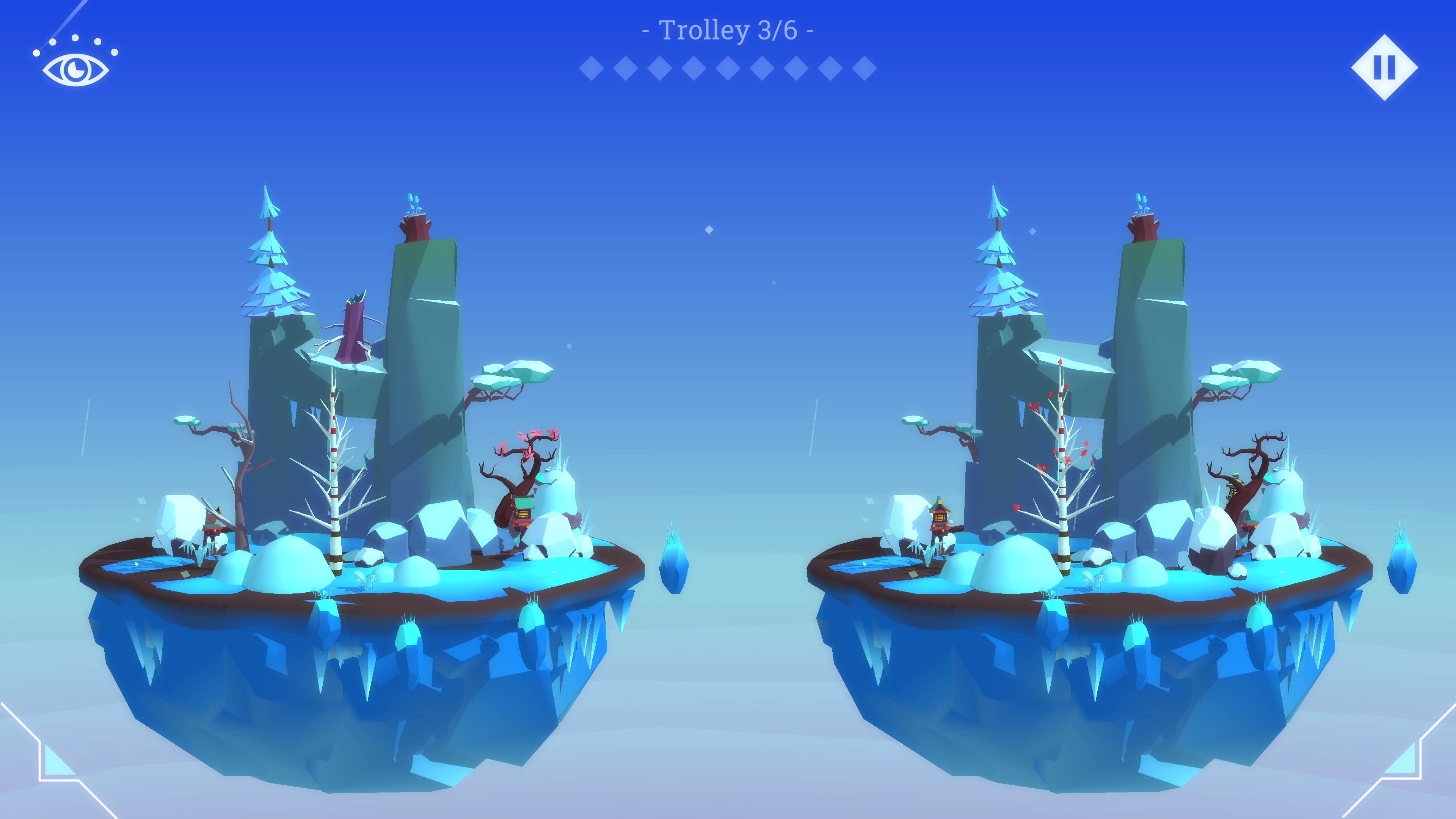Hidden Lands. Snowy level with 9 differences