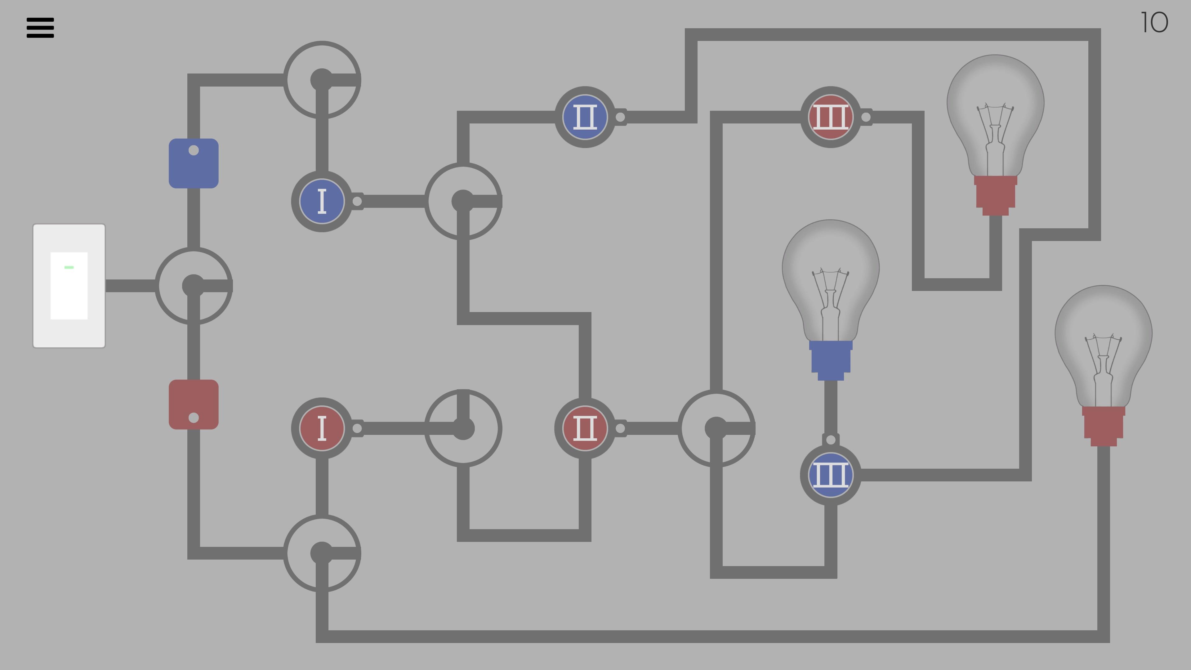 Turn on all the lights game screenshot.