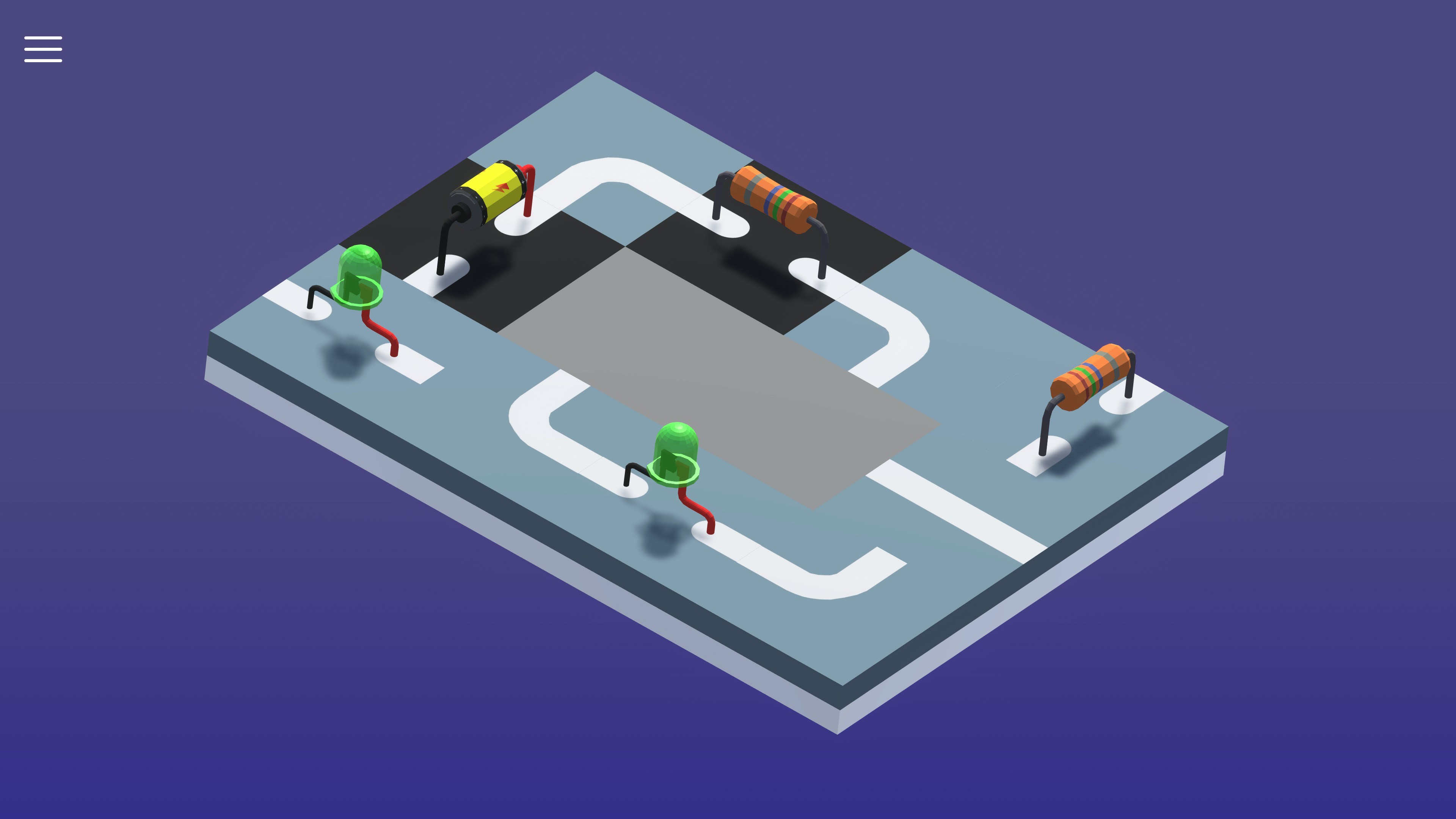 Puzzletronics Analog Eletronics game screenshot.