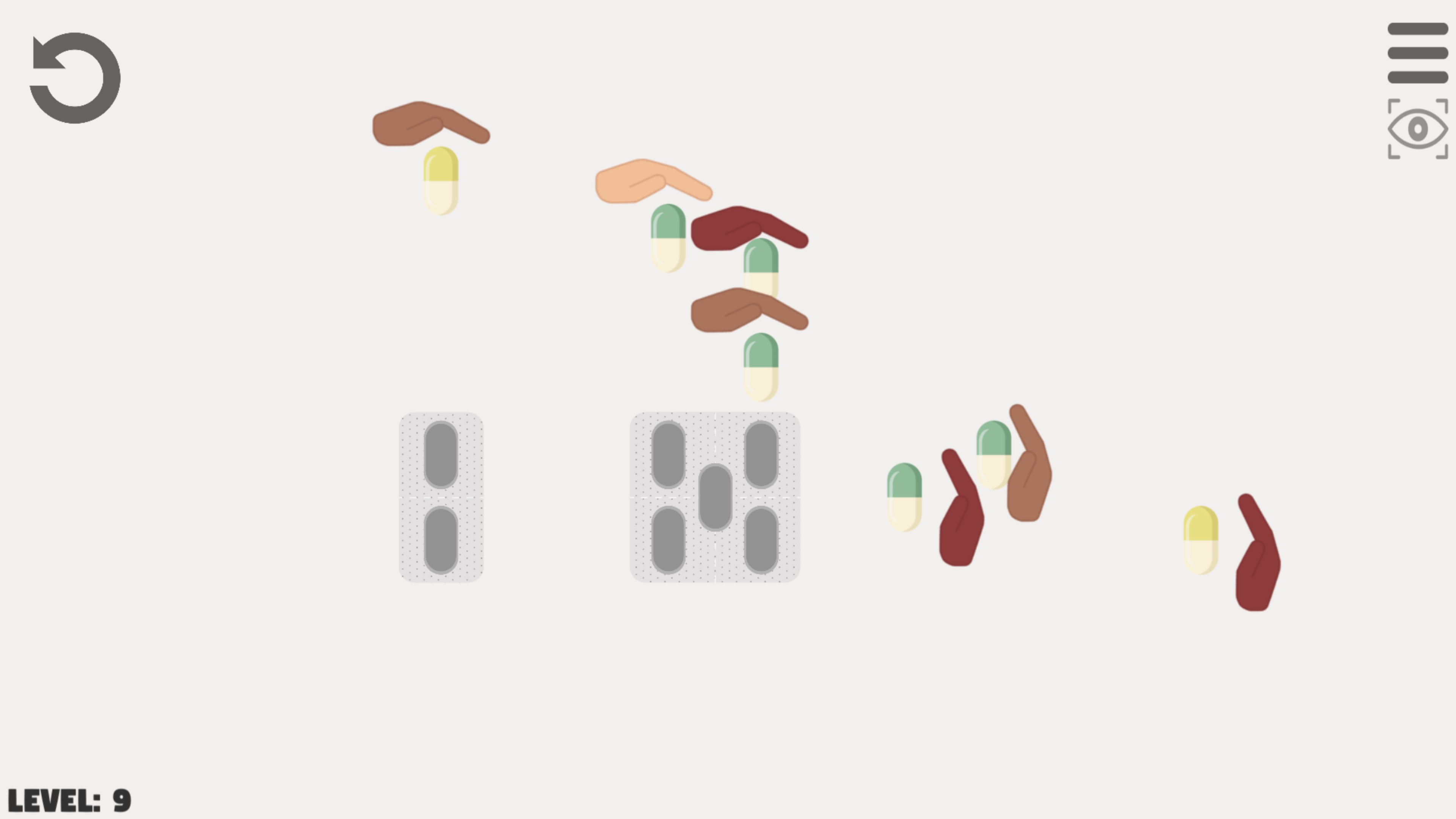 Pill Puzzle  One Move game screenshot.