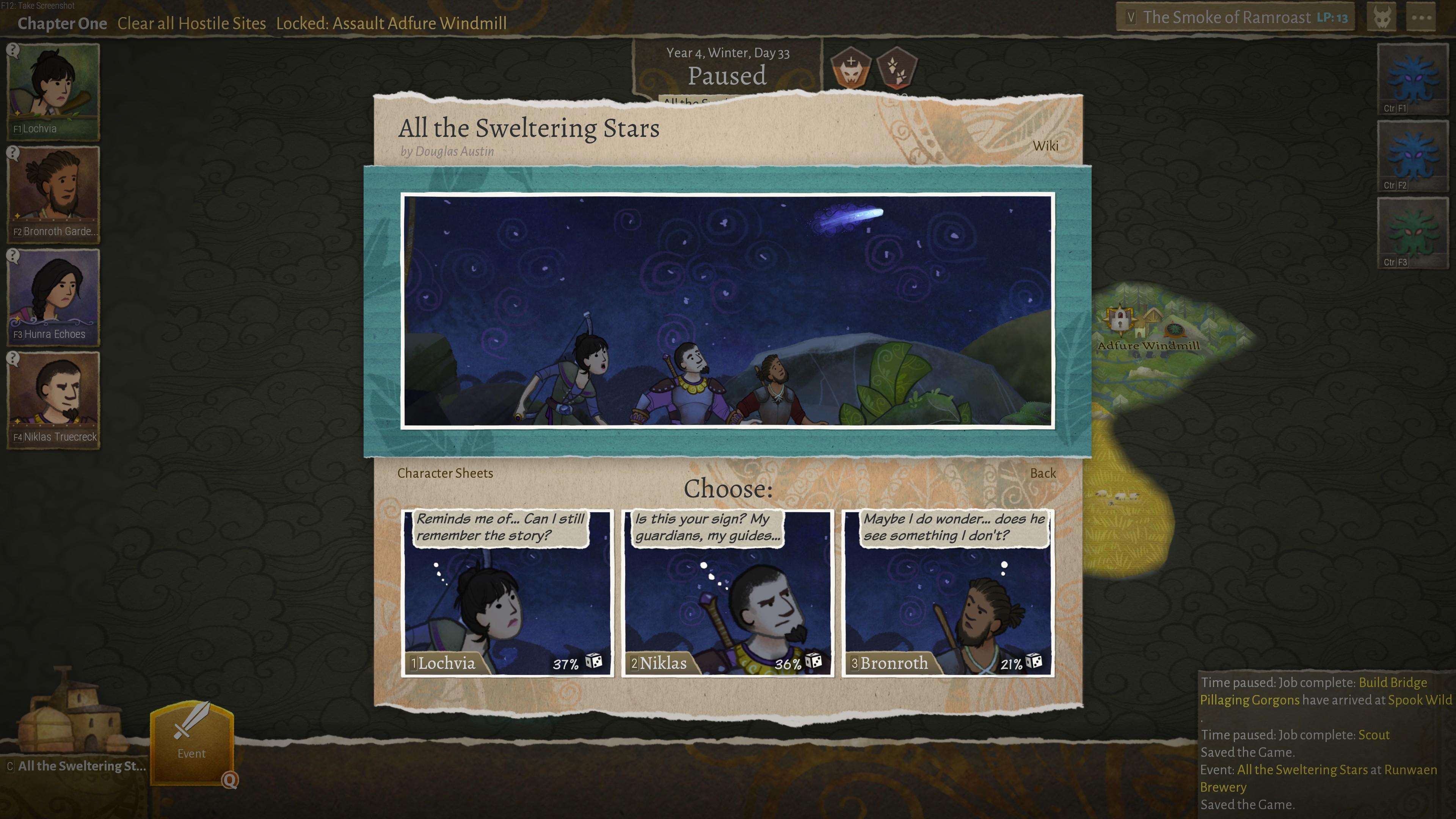 Wildermyth game screenshot.